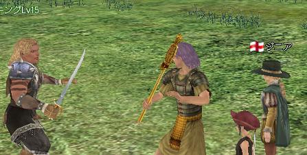 杖で戦うあべちゃん