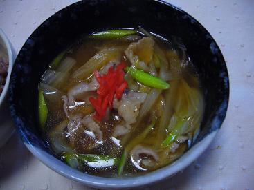 豚バラ肉と白菜のスープ