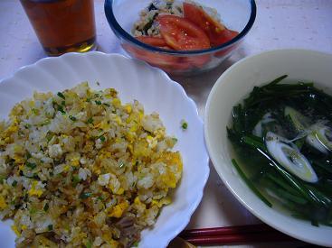 ぼっちごはん(炒飯・スープ)
