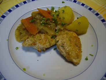 鶏肉の軽い煮込み