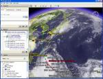 平成18年台風第3号(台風200603号)の様子-雲画像は「デジタル台風」より