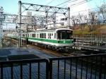 名谷車庫から新神戸行きが入線