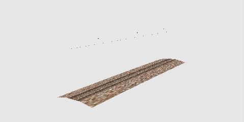 新しく制作した線路