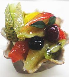 フルーツワッフルケーキ