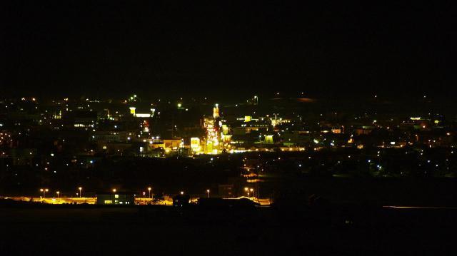 富良野市の夜景