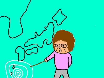 台風が南から