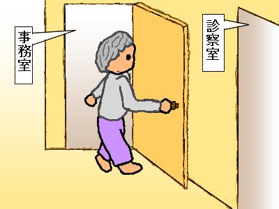 ドアを間違える