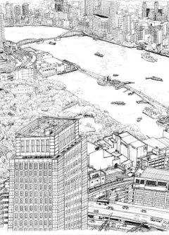 世界貿易センター(モノクロ)