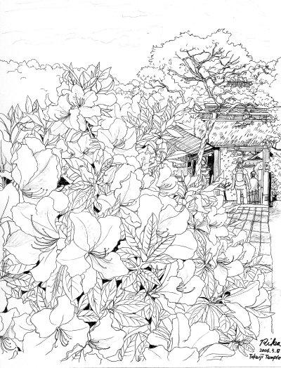東慶寺のつつじ(北鎌倉)