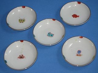 九谷焼の豆皿5枚セット1