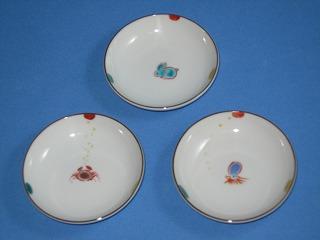 九谷焼の豆皿5枚セット2