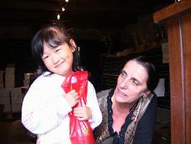 ワイナリーのおばさんと娘