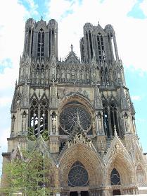 ランスの大聖堂外観