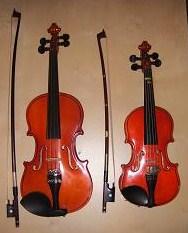 1/8と1/16のバイオリン