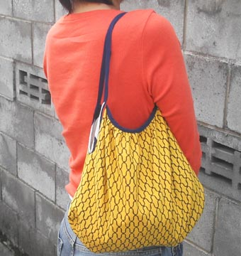 手ぬぐいバッグ-黄色い方