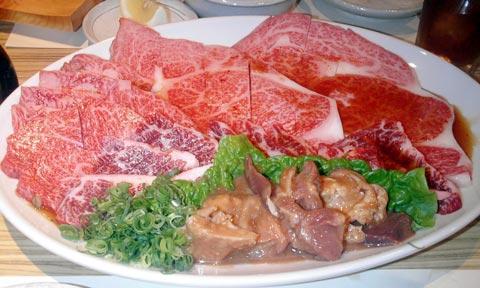 焼肉-特上肉盛合せ