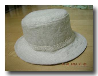帽子作りました。