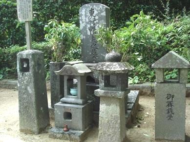 憧れの高杉晋作墓碑