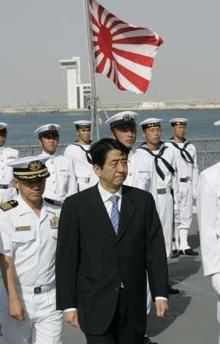 安倍首相が朝日を訪問