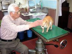 おじいさん先生にフィラリアの薬を頂きました