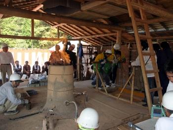 古代銅製錬復元実験