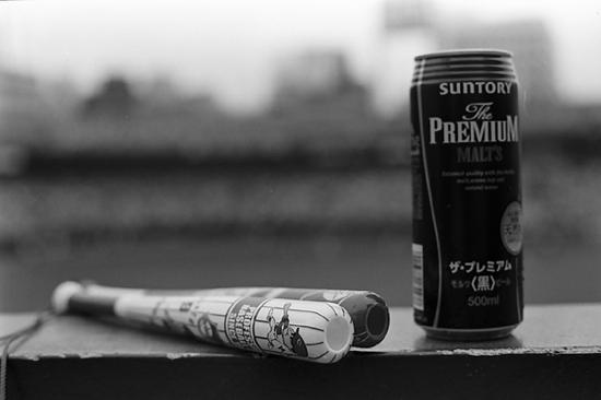 ビールとメガホン