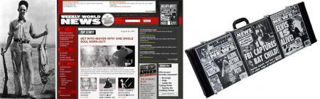 有名な巨大バッタとWWNホームページとギターケース