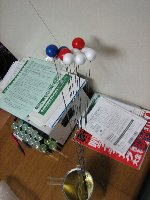 ピアノ線付分子模型