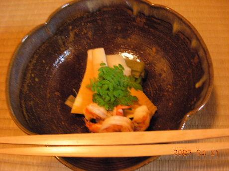 竹の子の炊き合せ