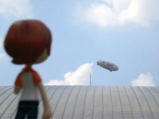 ゲームショウで飛行船を見たよ