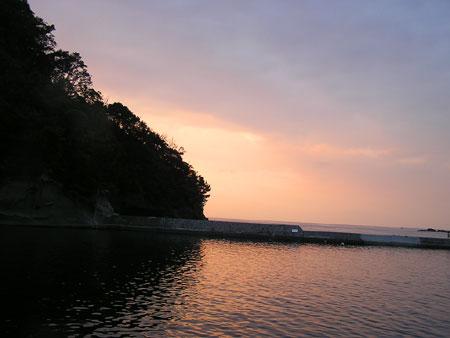 岩地の夕景25