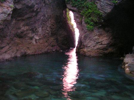 岩地の夕景35