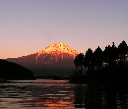 田貫湖と富士山3