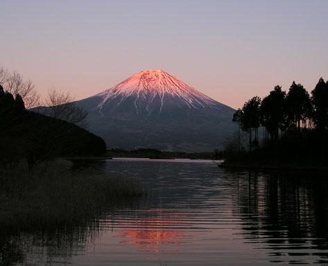 田貫湖と富士山4