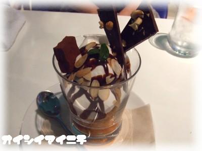 レアチョコ&ナッツパフェ