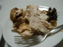 ローストチキンと食事2