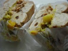 マルイチ シナモンレーズン(サツマイモと豆のサラダのとアップルシナモンクリチ)2