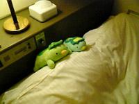 ホテルにて