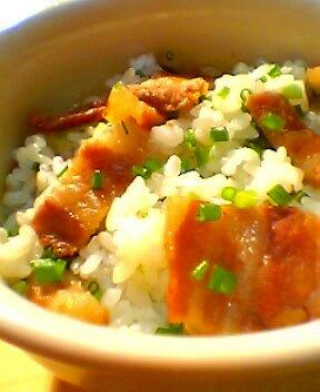 ねぎチャーシュー丼②(混ぜご飯)