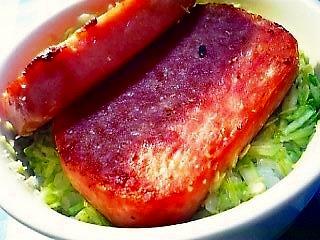 ランチョンミート丼①