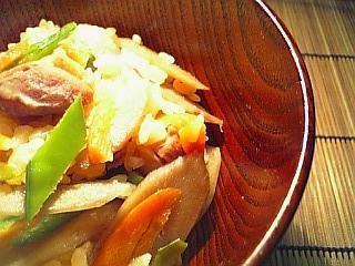 鶏ごぼう飯1-1