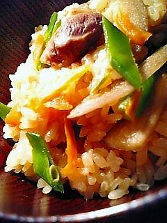 鶏ごぼう飯1-2