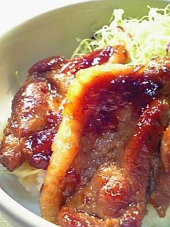 角煮風チャーシュー丼その2