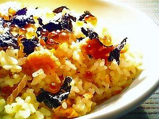鮭といくらの和風炒飯1-1