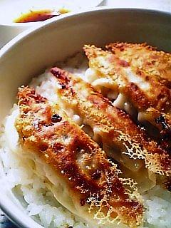 手作り餃子丼1-2