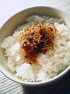 ちりめん山椒でご飯を食べる1-1