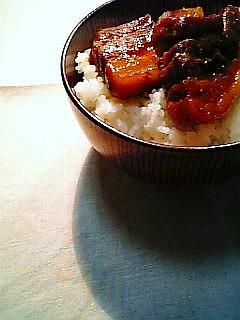 豚角煮丼1-1