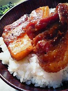 豚角煮丼1-2