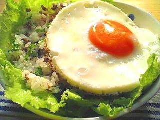 挽き肉とガーリックの混ぜご飯1-2