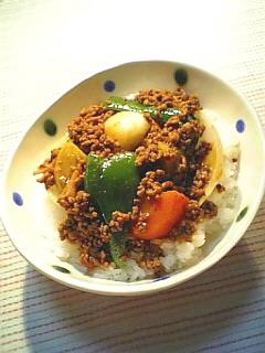 夏野菜の餡かけドライカレー1-1